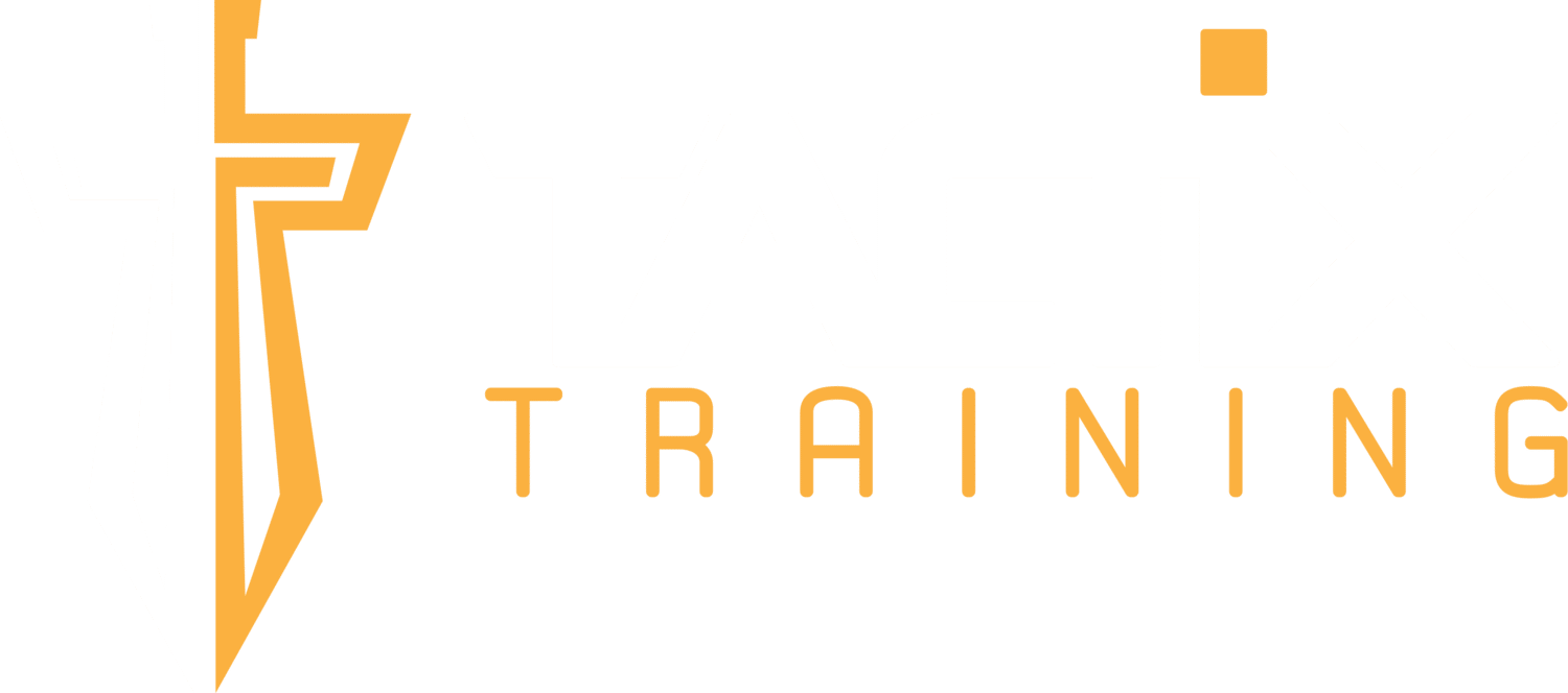 Tactix Training Logo writing with cross