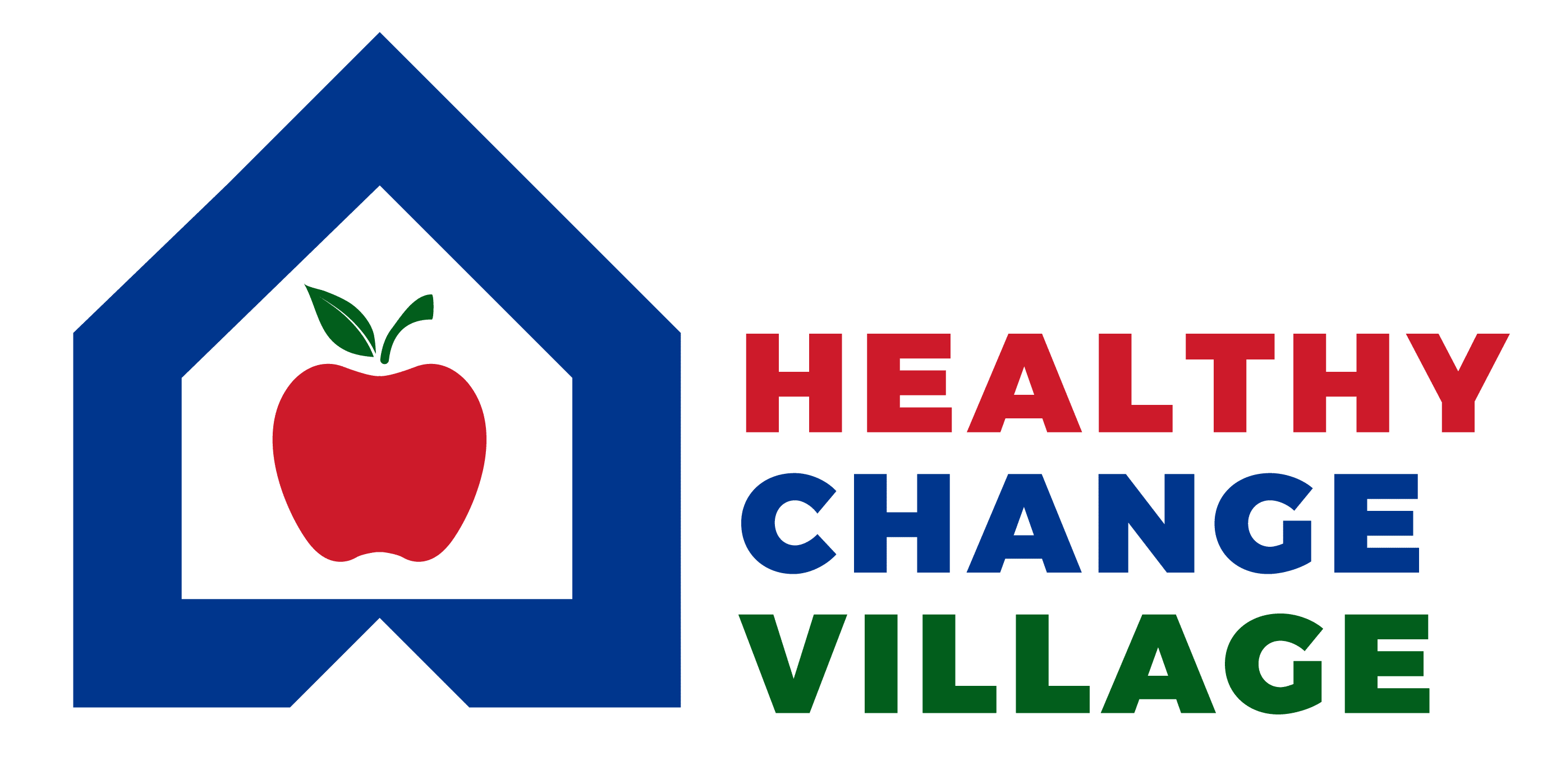 Healthy Change Village Logo Apple inside a house