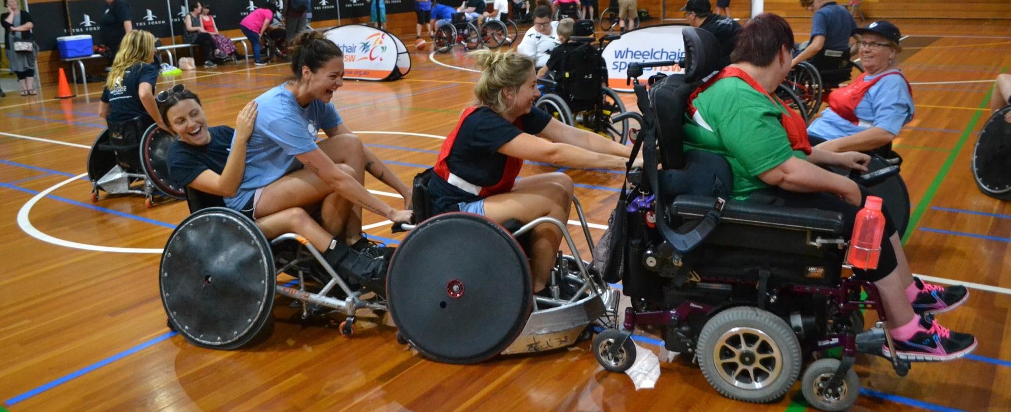 people-having fun in wheelchairs